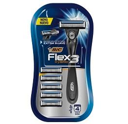 Barbeador Bic Flex 3 Hybrid com 5 Refil