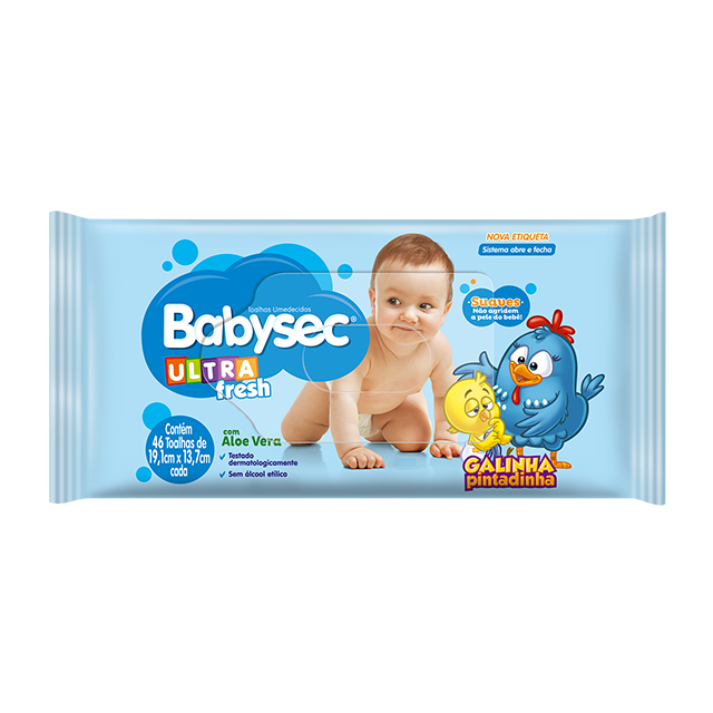 Toalha Umedecida Softys Babysec Ultra Fresh
