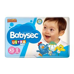 Fralda Softys Babysec Ultra Sec Jumbinho Tamanho XG