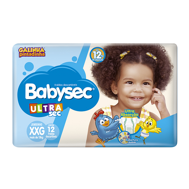 Fralda Softys Babysec Ultra Sec Jumbinho Tamanho XXG