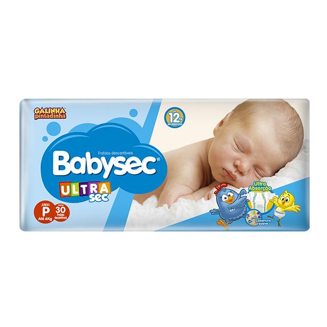 Fralda Softys Babysec Ultra Sec Jumbo Tamanho P