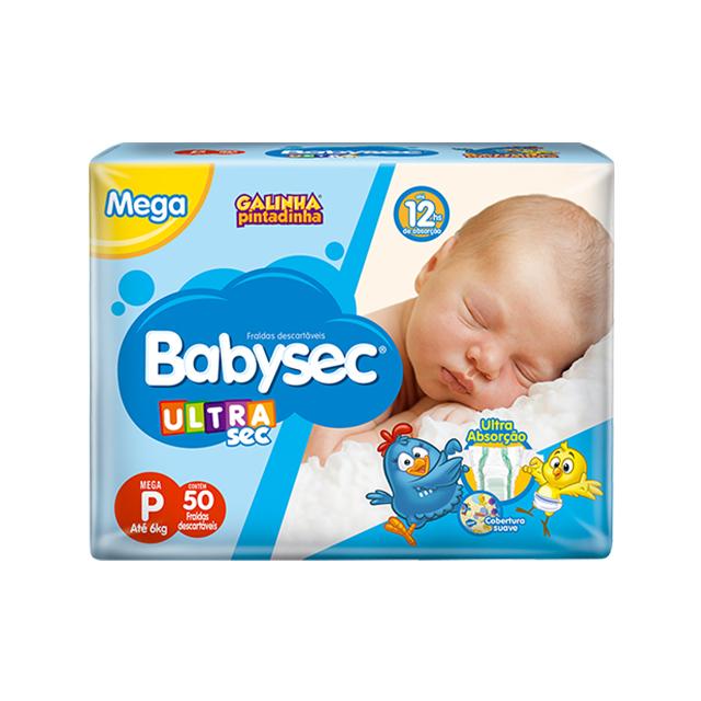 Fralda Softys Babysec Ultra Sec  Mega Tamanho P