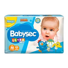 Fralda Softys Babysec Ultra Sec  Mega Tamanho M