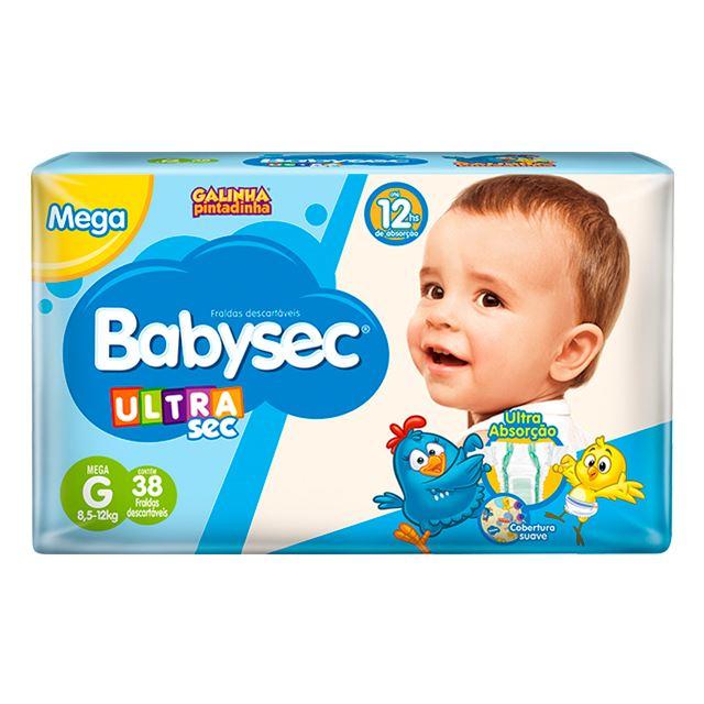 Fralda Softys Babysec Ultra Sec  Mega Tamanho G