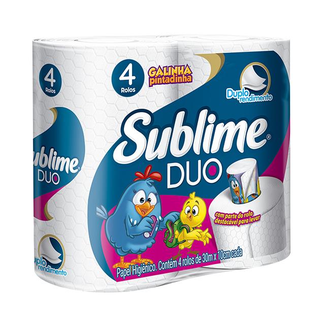 Papel Higiênico Softys Sublime Duo Folha Dupla 30M