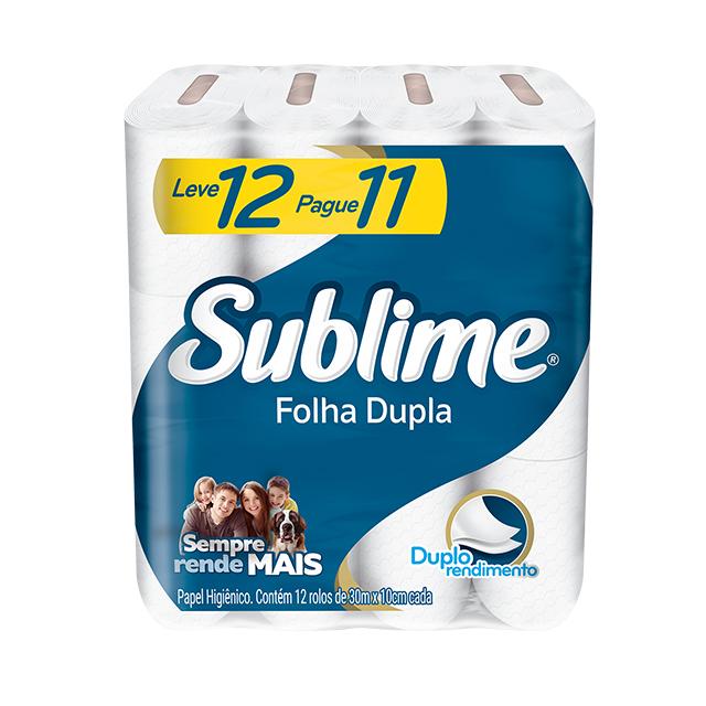 Papel Higiênico Softys Sublime Folha Dupla Neutro 30M Leve 12 Pague 11