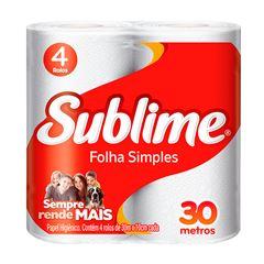 Papel Higiênico Softys Sublime Folha Simples Neutro 30M