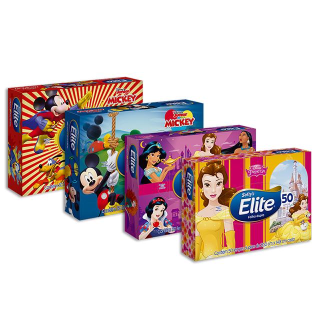 Lenço de Papel Softys Elite  Foha Dupla Kids