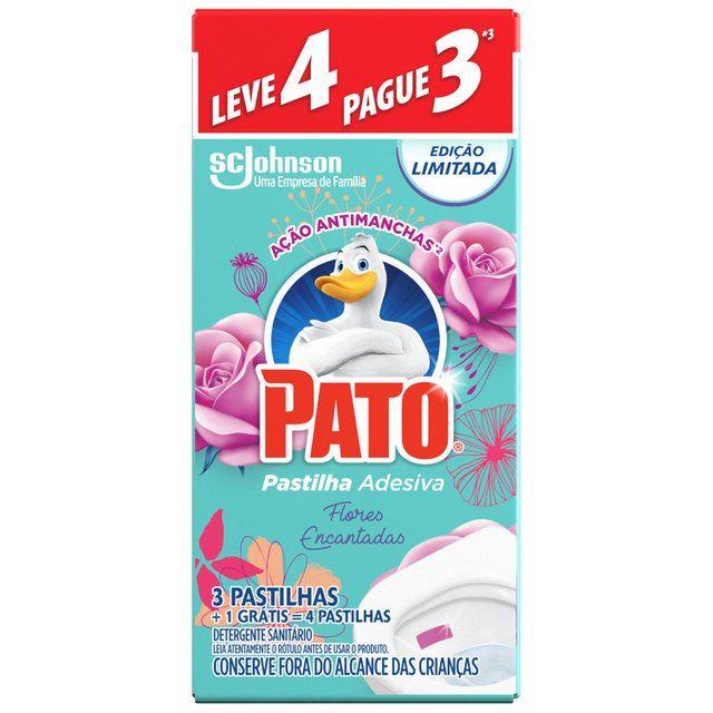 Detergente Sanitário Pato Pastilha Adesiva Flores L4 P3