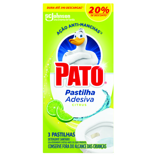 Detergente Sanitário Pato Pastilha Adesiva Citrus Oferta