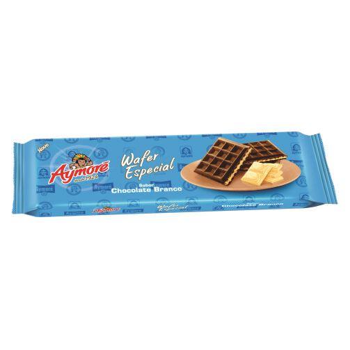 Biscoito Aymoré Wafer Chocolate Branco Especial