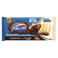 Chocolate Barra Arcor Tortuguita ao Leite + Branco 150g