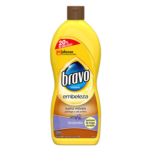 Bravo Lustra Móveis Brilo Prático 20% de Desconto Lavanda