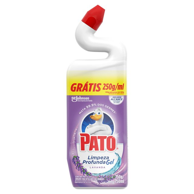 Limpador Sanitário Pato Gel Lavanda Grátis 250ml