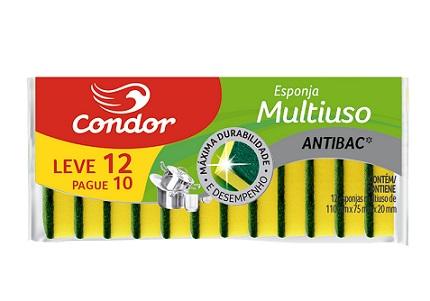 Esponja Condor Multiuso Leve 12 Pague 10 Unidades   Ref: 1555
