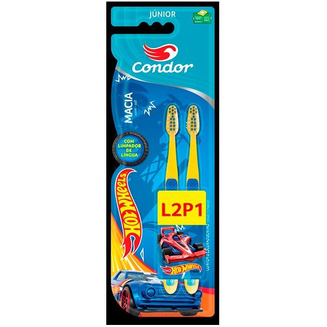 Escova Condor Dental Júnior Hot Wheels L2P1 Macia