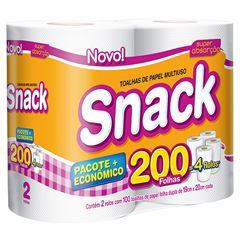 Papel Toalha Snack Folha Dupla 200 Toalhas Oferta