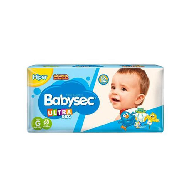 Fralda Softys Babysec Ultra Sec Hiper Tamanho G