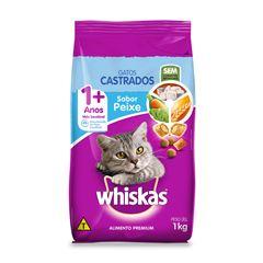 Ração Whiskas Seco Sabor Peixe Gatos Castrados Adulto