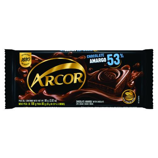 Chocolate Barra Arcor Amargo 53% 80g