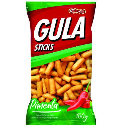 Gula Sticks Gulozitos Pimenta com 20 unidades
