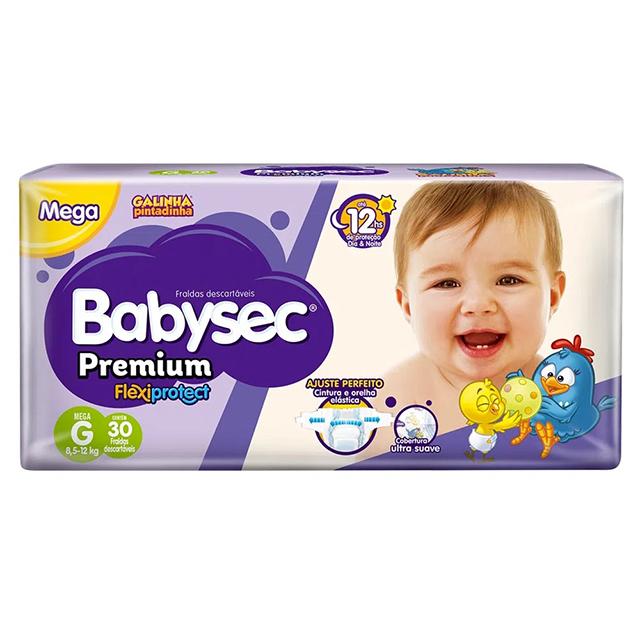 Fralda Softys Babysec Premium Mega Tamanho G