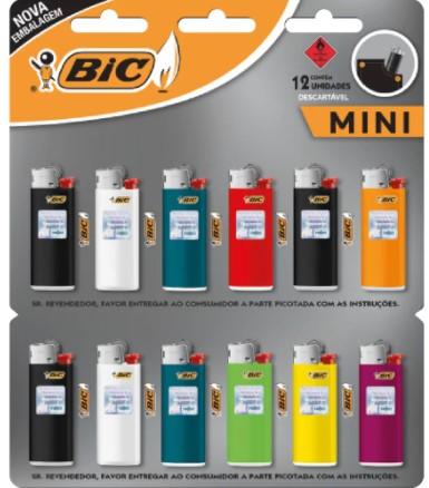 Isqueiro Bic Mini J5 LV12 PG11