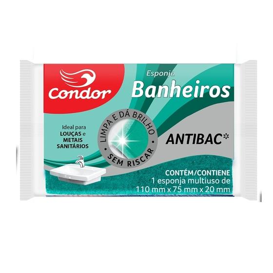 Esponja Condor Banheiro Pacote com 12 unidades