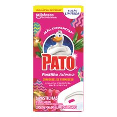 Detergente Sanitário Pato Pastilha Adesiva Carrossel de Framboesa