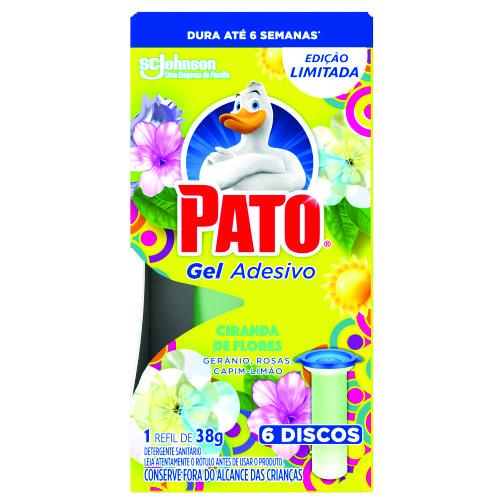 Desodorizador Sanitário Pato Gel Adesivo Refil 6 Discos