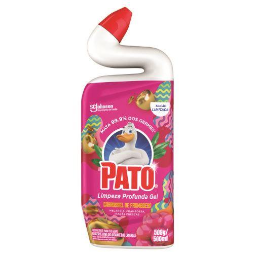 Limpador Sanitário Pato Gel Carrossel de Framboesa