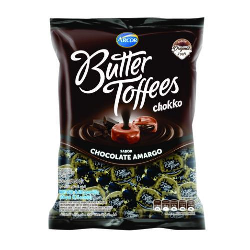 Bala Recheada Arcor Butter Toffees Chocolate Amargo