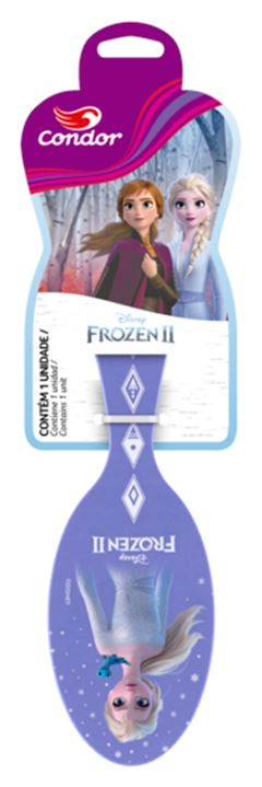 Escova Condor para Cabelo Infantil Frozen II Oval.REF 9873