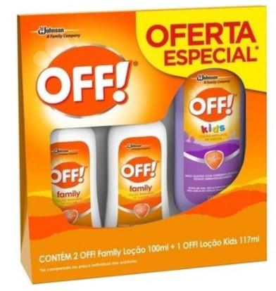 Repelente 2 OFF Family Loção 100ml + 1 OFF Loção Kids 117ml Oferta