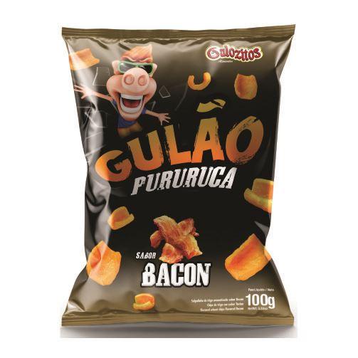 Gulão Pururuca Sabor Bacon 100 gramas