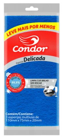 Esponja Condor Limpeza Delicada Leve Mais Por Menos