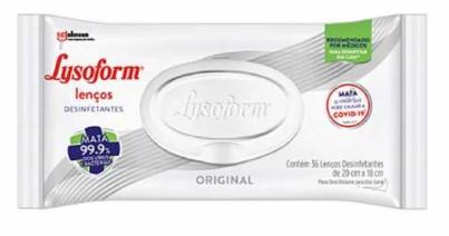 Lenços Umedecidos Desinfetantes Lysoform Original