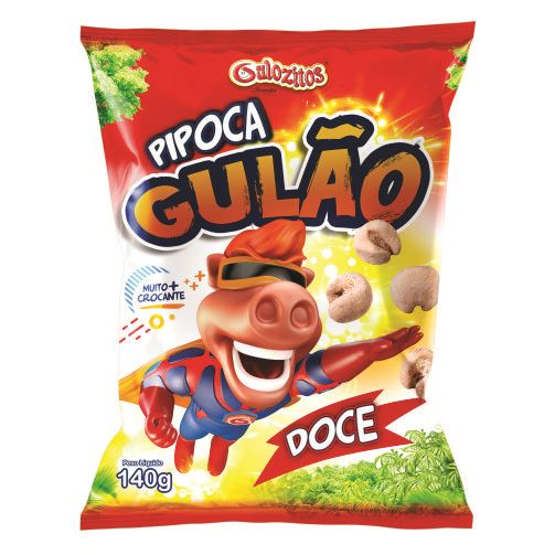 Gulão Laminado Gulozitos Pipoca Doce com 10 unidades
