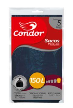 Saco de Lixo Condor 150 Litros com 5 Sacos