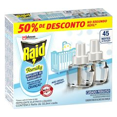 Repelente Elétrico Líquido  Raid 45 Noites Family 32,9ml Promocional