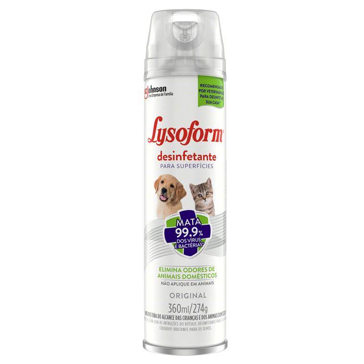 Desinfetante Lysoform Aerossol Original Pets
